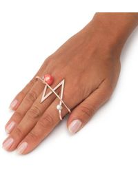 Leivan Kash - Acis Rose Gold Knuckle Ring - Lyst