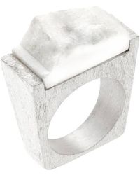 Pasionae - Snow Silver Ring - Lyst