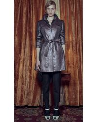 Sandra Weil - Wood Metallic Trench Coat - Lyst