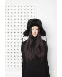 Onar | Haris Fur Collar - Black | Lyst