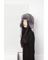 Onar - Glass Fur Hat - Grey - Lyst