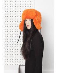 Onar - Glass Fur Hat - Orange - Lyst