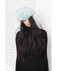 Onar | Glass Fur Hat - Aqua | Lyst