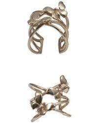 Bernard Delettrez | Bronze Criss Cross Ring With Butterflies | Lyst
