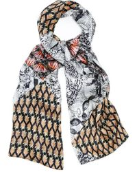 Kekkai - Flower Diamonds Silk Scarf - Lyst