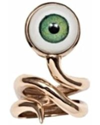 Bernard Delettrez - Bronze Snake Ring With Eye - Lyst