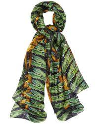 Kekkai - Aztec Jungle Patch Silk Scarf - Lyst