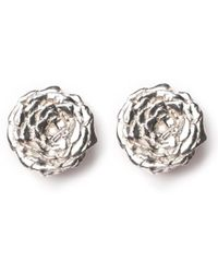 Leivan Kash | Rose Stud Earrings | Lyst