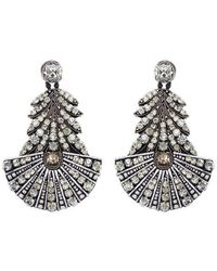Forest Of Chintz - Crystal Chandelier Earrings - Lyst