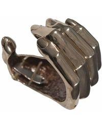 Bernard Delettrez - Bronze Hand Cuff Bracelet - Lyst