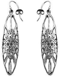 Ayaka Nishi   Silver Long Cell Earrings   Lyst