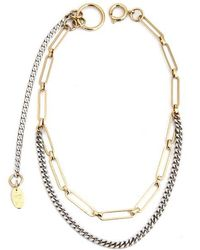 Justine Clenquet - Pixie Two-tone Choker Necklace - Lyst