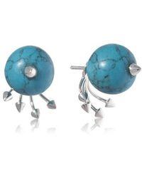 Yael Salomon - Greta 05 Silver And Turquoise Earring - Lyst