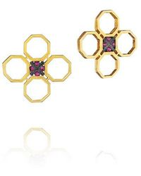Madstone - Mini M8 Red Gold Studs - Lyst