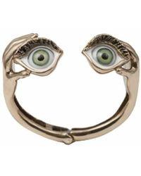 Bernard Delettrez | Bronze Bracelet With Enamel Eyes | Lyst