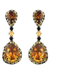 Forest Of Chintz - Vintage Crystal Earrings - Lyst