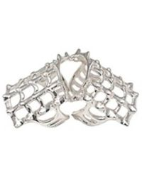 Bernard Delettrez | Cage And Studs Articulated Silver Ring | Lyst