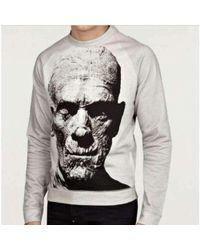Christopher Kane - Mummy Print Creature Cotton Knit Sweater - Lyst