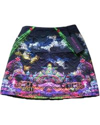 Manish Arora - Evening Cloud Print Quilted Mini Skirt - Lyst