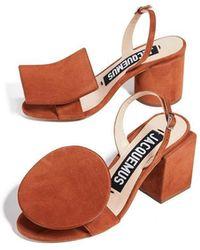 Jacquemus - 'les Rond Carré' Terracotta Sandals - Lyst