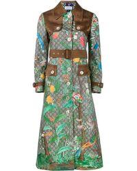 Gucci - Tian Print Gg Supreme Coat - Lyst