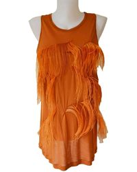 Nina Ricci - Amber Tank Top With Ostrich Feathers - Lyst