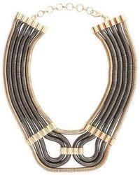 BCBGMAXAZRIA - Bcbg Maxazria Two Tone Statement Futura Snake Chain Necklace - Lyst