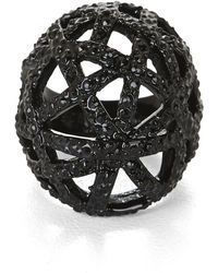 BCBGMAXAZRIA - Pave Cage Ring - Lyst