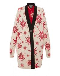 Fausto Puglisi - Knit Star Ivory Red Caban Coat - Lyst