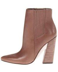 05c91a7b81ae BCBGMAXAZRIA Oak High-heel Leather Knee Boots in Brown - Lyst