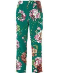 Gucci - Blooms Print Pajama Silk Pants - Lyst