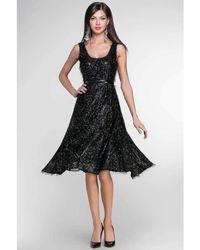 Tracy Reese - Black Fringe Runway Dress - Lyst