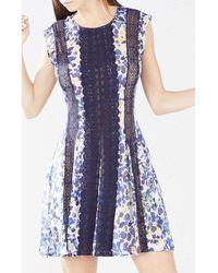 BCBGMAXAZRIA - Jalena Printed Lace Stripe Dress - Lyst