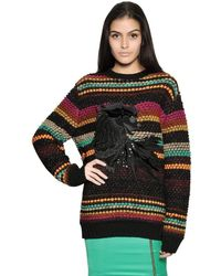 Just Cavalli - Multicolour Dragon Embroidered Wool Jumper - Lyst