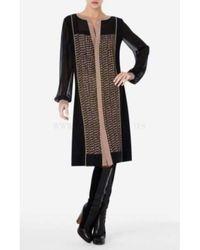 BCBGMAXAZRIA - Bcbg Maxazria Runway Gretchen Printed Center Panel Dress - Lyst