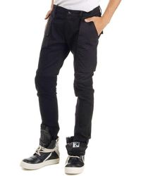 Rick Owens - Black Stretch Cotton Trousers Jeans - Lyst
