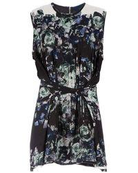Sharon Wauchob - Floral Printed Fringe Silk Dress - Lyst