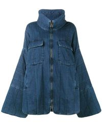 Chloé - Blue Denim Oversized Coat - Lyst
