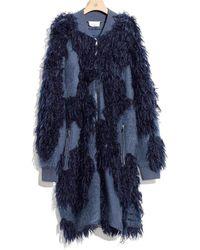 3.1 Phillip Lim - 3.1 Saphire Wool Mohair Jumper Coat - Lyst