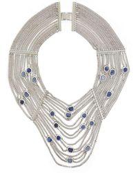 BCBGMAXAZRIA - Bcbg Maxazria Natural Stone Draped Chain Necklace Jdcje671-t4e - Lyst