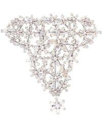 BCBGMAXAZRIA Floral Stone Hand Chain Bracelet - Multicolour
