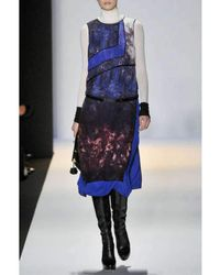 BCBGMAXAZRIA - Bcbg Maxazria Runway Blue Combo Silk Sleeveless Jacquelyn Dress - Lyst