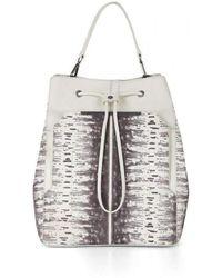 BCBGMAXAZRIA - Runway Print-blocked Leather Backpack Bag Dfe538rw-1o6 - Lyst