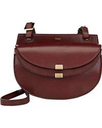Chloé - Georgia Burgundy Leather Crossbody Bag - Lyst