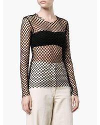 Dries Van Noten - 'hashim' Black Mesh Top - Lyst
