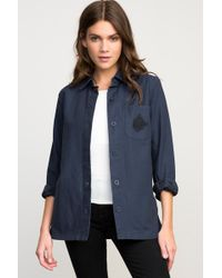 RVCA - Bygone Button-up Shirt Jacket - Lyst