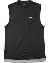 RVCA - Runner Mesh Muscle Tank Top - Lyst