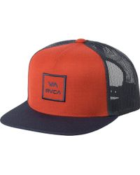 62c779e49e9 Lyst - Rvca Va All The Way Trucker Hat Iii in Green for Men