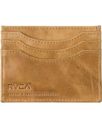RVCA - Newland Leather Wallet - Lyst