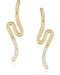 Carelle - Brushstroke Diamond & 18k Yellow Gold N° 51 Earrings - Lyst